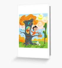 Sunny October Day Greeting Card