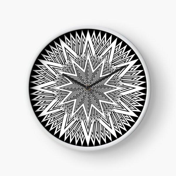 Monochrome Mandala Clock