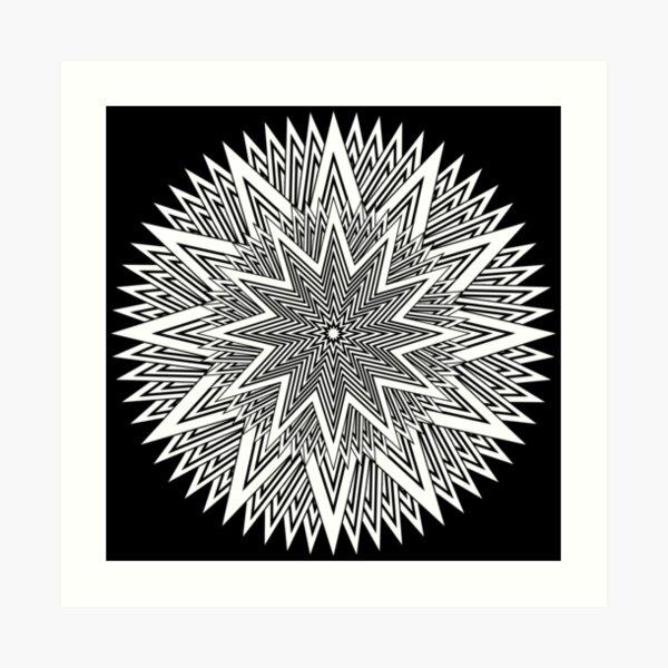 Monochrome Mandala Art Print