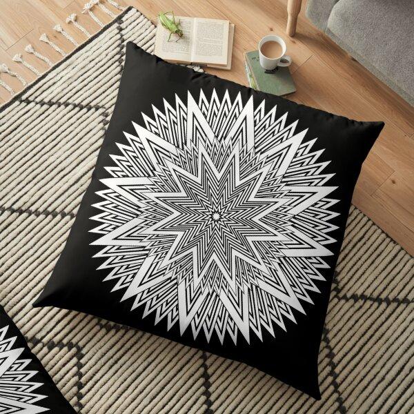 Monochrome Mandala Floor Pillow