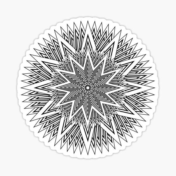 Monochrome Mandala Sticker