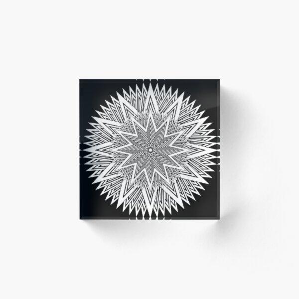 Monochrome Mandala Acrylic Block