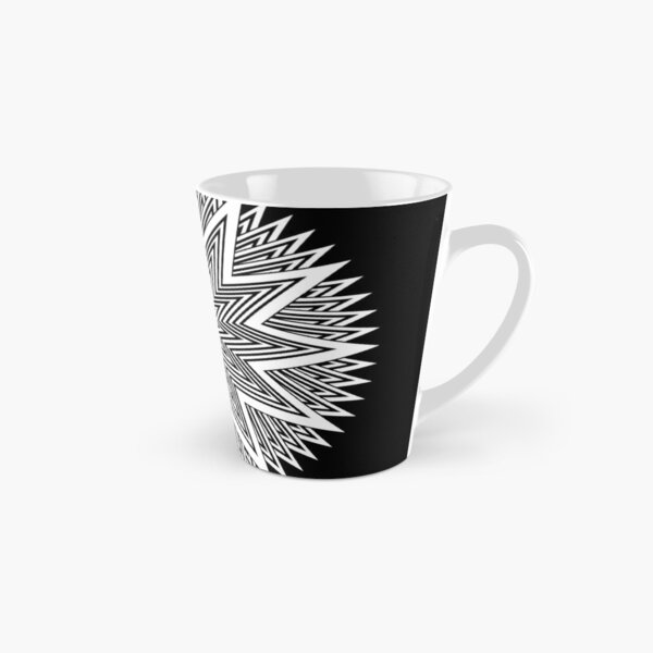 Black and White Minimalist Star Tall Mug