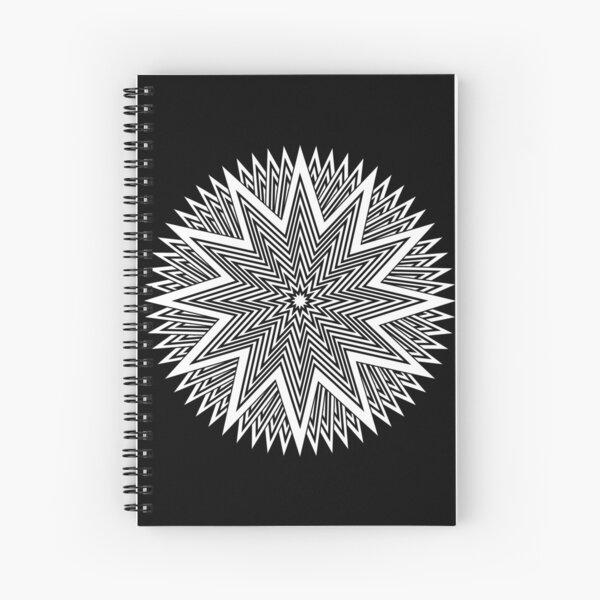 Black and White Minimalist Star Spiral Notebook