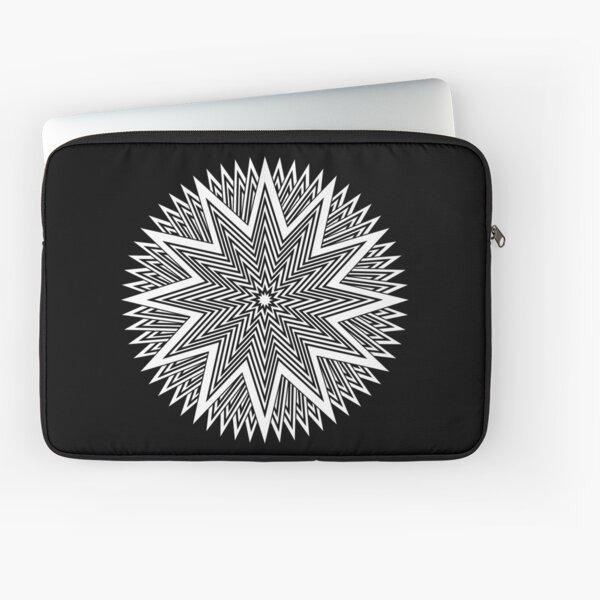 Black and White Minimalist Star Laptop Sleeve