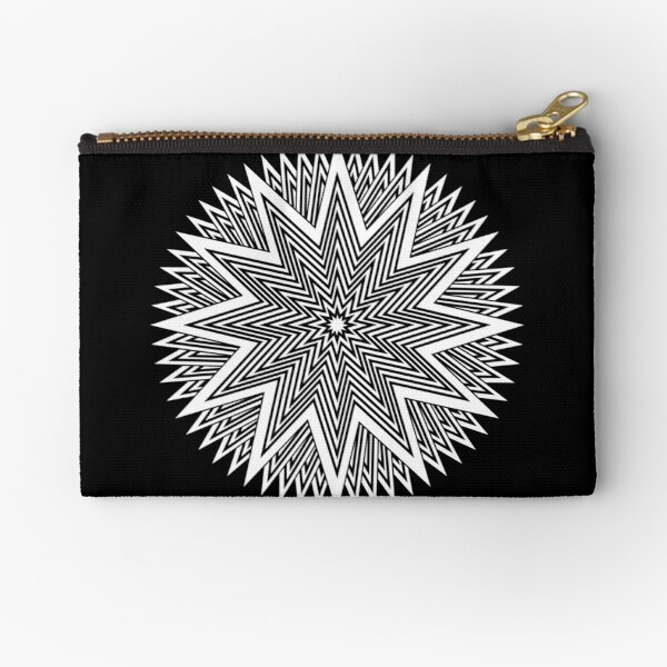 Black and White Minimalist Star Zipper Pouch