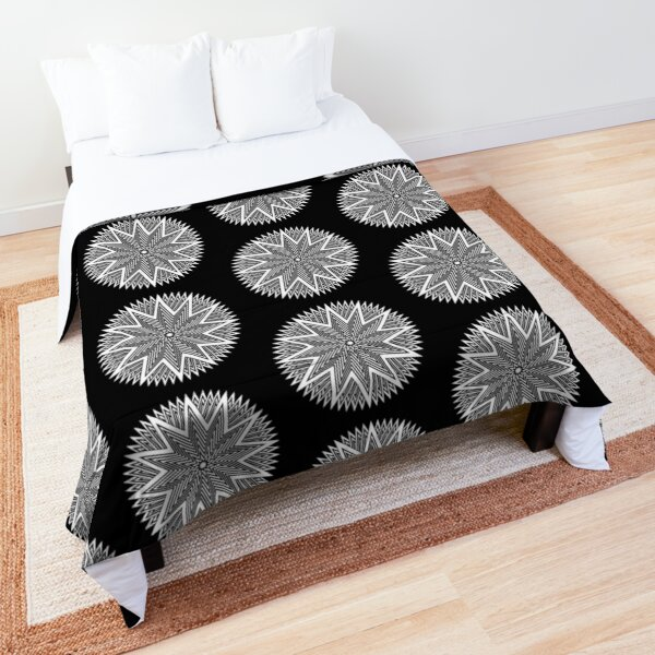 Black and White Minimalist Star Comforter