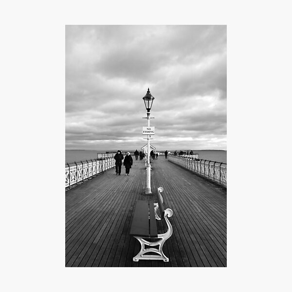 """No Fishing"" on Penarth Pier Photographic Print"