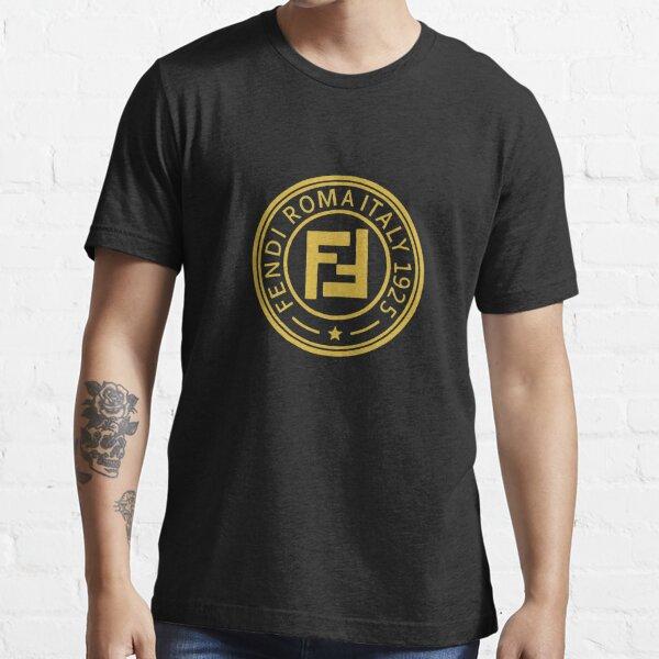 Best Seller - Mercancía del logotipo de Fendi Roma Camiseta esencial
