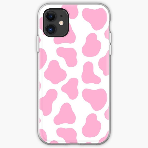 pink cow pattern iPhone Soft Case