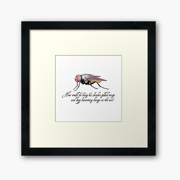 Fly - Shakespeare Quote - Laudea Martin Framed Art Print