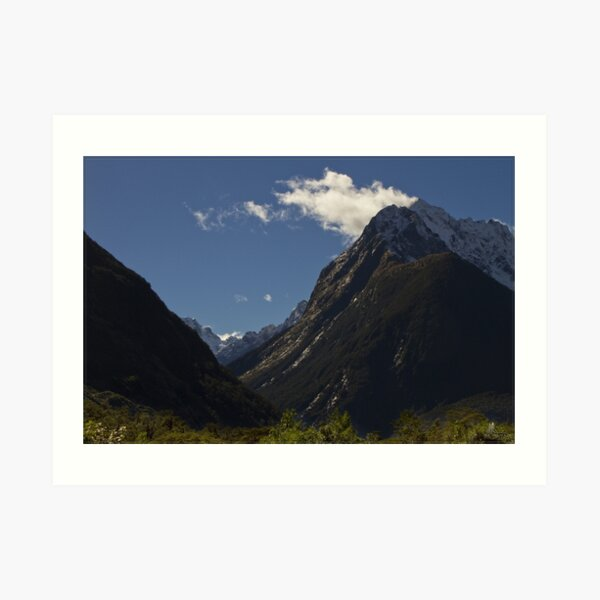 On the way in to Milford Sound Art Print