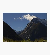 On the way in to Milford Sound Photographic Print