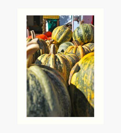 Pumpkin Green Art Print