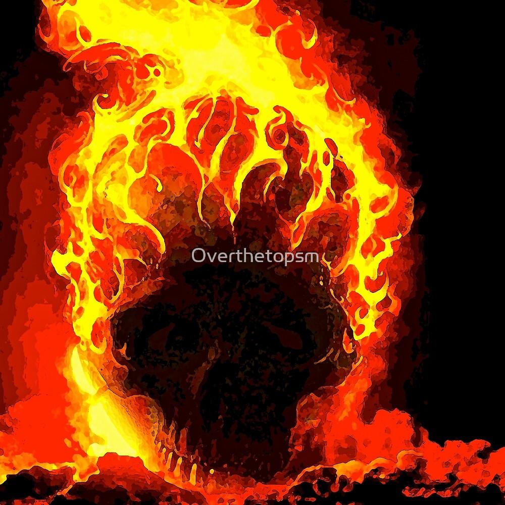 Skull on Fire by Saundra Myles