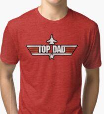 Top Gun style T-Shirt (Top Dad) Tri-blend T-Shirt