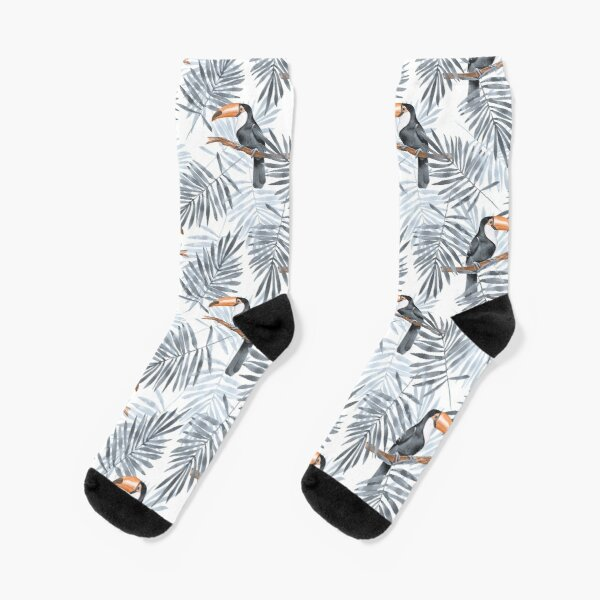 Palm leaves and Toucan Socks