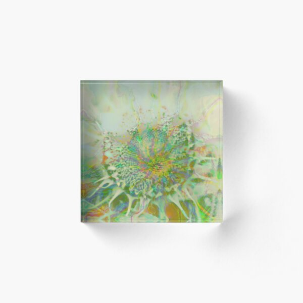 Floral abstraction Acrylic Block