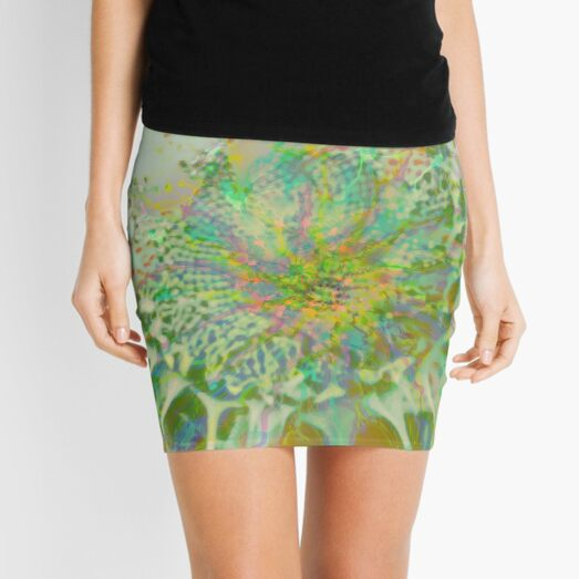 Floral abstraction Mini Skirt