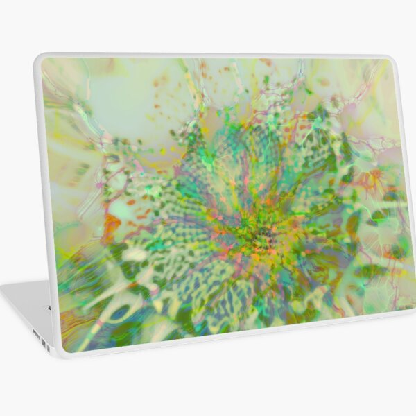 Floral abstraction Laptop Skin