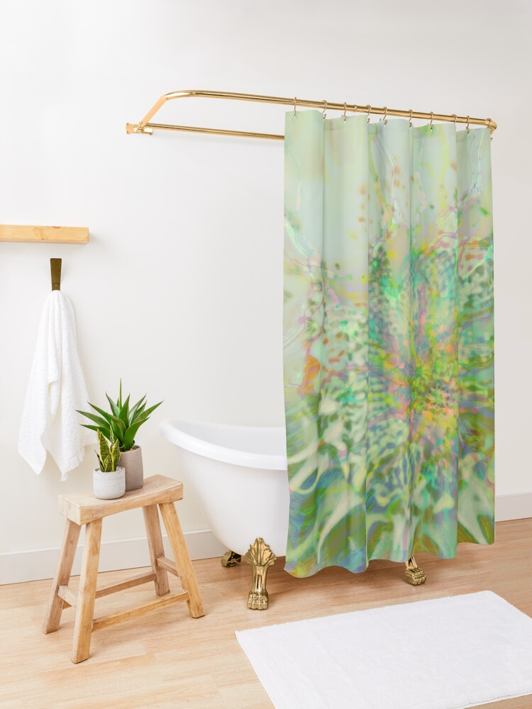 Alternate view of Floral abstraction Shower Curtain