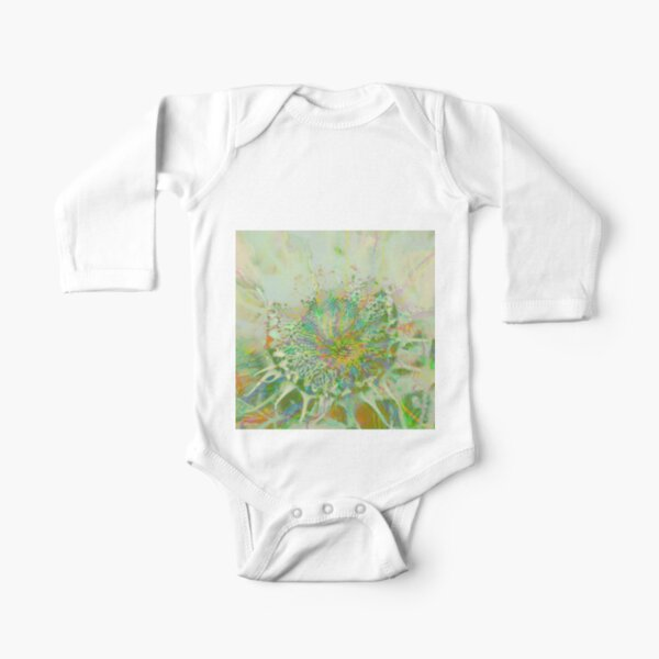 Floral abstraction Long Sleeve Baby One-Piece