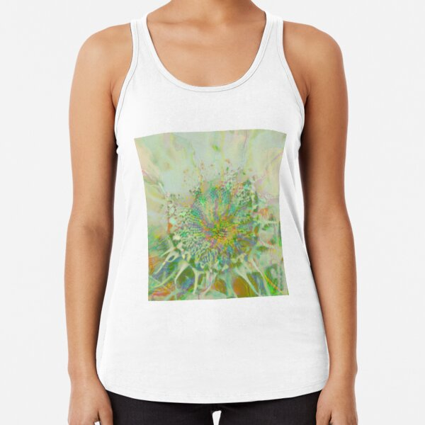 Floral abstraction Racerback Tank Top