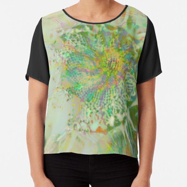 Floral abstraction Chiffon Top