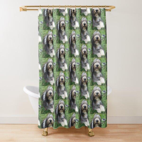 Bearded Collie - Happy Chappy Beardie Shower Curtain