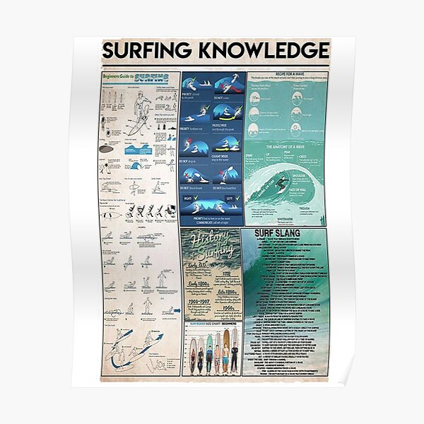 hardoinstephane Surfing Knowledge Poster