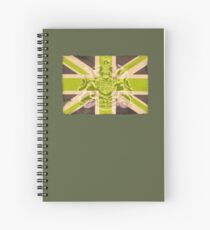 Army style Union jack flag T-shirt Spiral Notebook