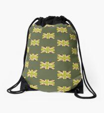 Army style Union jack flag T-shirt Drawstring Bag