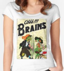 Ahhh!!! Brains Women's Fitted Scoop T-Shirt