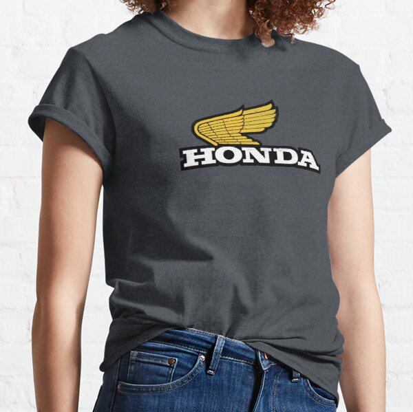 Rugged HONDA 1970s Wing Logo with grunge texture Classic T-Shirt