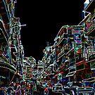 Busy Street - Cambodia by David J. Hudson