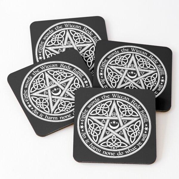Celtic Pentagram Coasters (Set of 4)