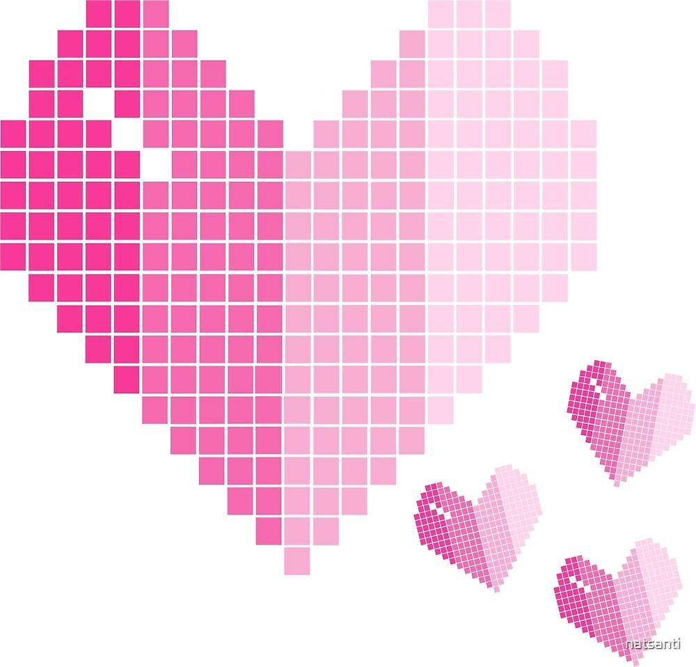 Pink gradual heart by natsanti