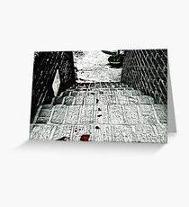 The Trail of Murder Greeting Card