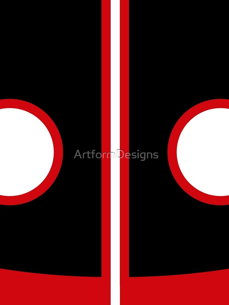 Sixties Mod Red , Black and White by ArtformDesigns
