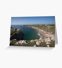 Fall Bay Gower Swansea Greeting Card