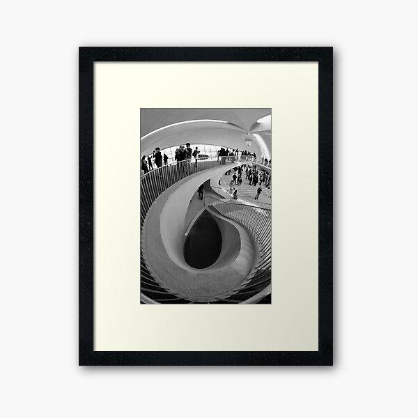 Down the Staircase  Framed Art Print