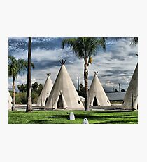 WigWam Motel on Route 66 Photographic Print