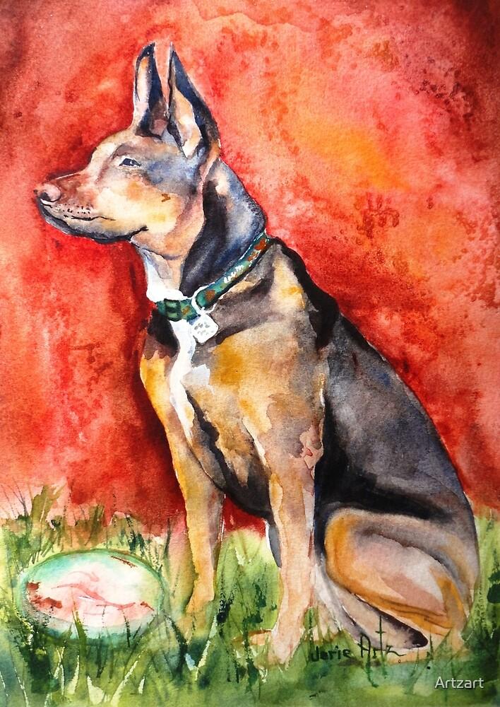 German Shepherd by Artzart