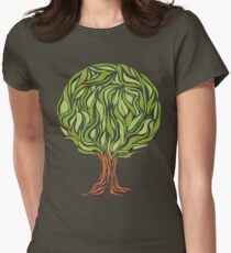 Illusion  tree Womens Fitted T-Shirt