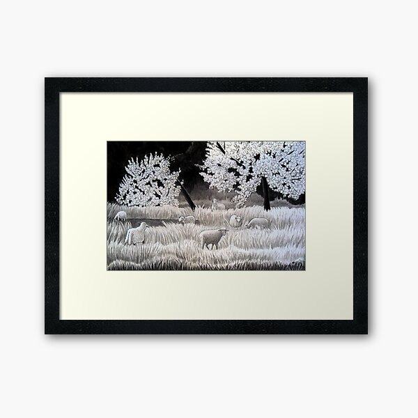 Winter Sheep in Ibiza Framed Art Print