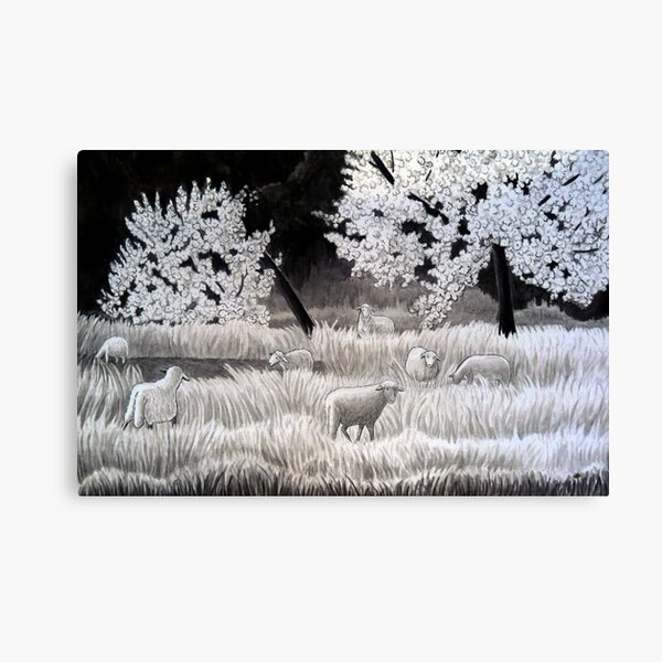 Winter Sheep in Ibiza Canvas Print