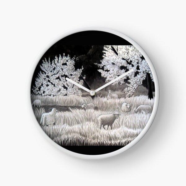 Winter Sheep in Ibiza Clock