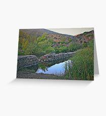 Old Mission Dam-Historic Landmark Greeting Card