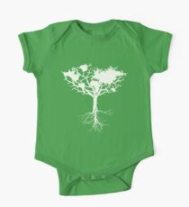 Earth tree *pearl white One Piece - Short Sleeve