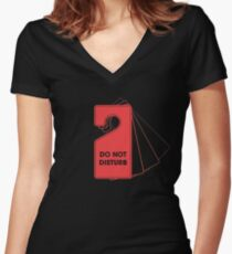 Privacy Policy Women's Fitted V-Neck T-Shirt